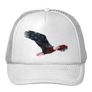 Bald Eagle American Flag Cap Trucker Hat
