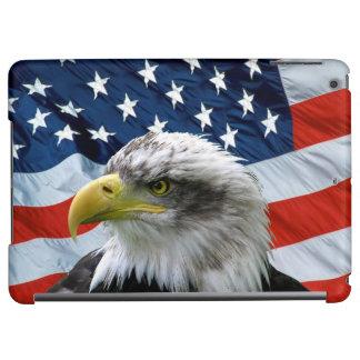 Bald Eagle American Flag Cover For iPad Air