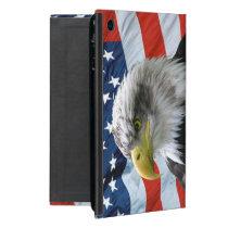 Bald Eagle American Flag Cover For iPad Mini
