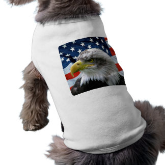 Bald-Eagle-American-Flag-Dog-Shirt Tee