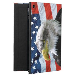 Bald Eagle American Flag iPad Air Cases