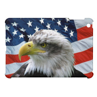 Bald Eagle American Flag iPad Mini Case