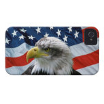 Bald Eagle American Flag iPhone Case Case-Mate iPhone 4 Cases