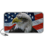 Bald Eagle American Flag iPhone Speakers