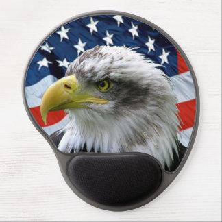 Bald Eagle American Flag Mousepad Gel Mouse Pads