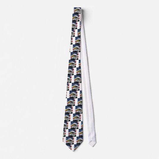 Bald Eagle American Flag Neck Tie