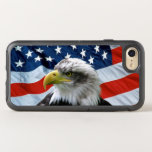 """Bald Eagle American Flag OtterBox Symmetry iPhone 8/7 Case<br><div class=""""desc"""">Celebrate the USA and those that protect it&#39;s freedom with this Patriotic OtterBox iPhone 7 Case decorated with a beautiful Bald Eagle posed in front of the American Flag</div>"""