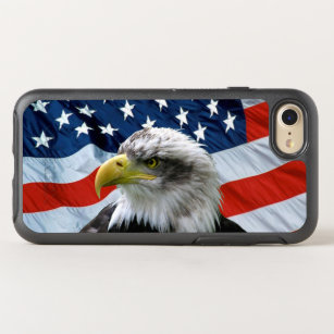 Bald Eagle American Flag OtterBox Symmetry iPhone 8/7 Case