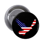 Bald Eagle American Flag Pins