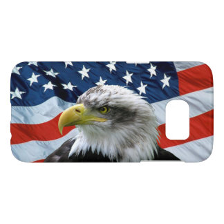 Bald Eagle American Flag Samsung Galaxy S7 Case
