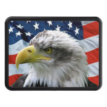 Bald Eagle American Flag Trailer Hitch Cover