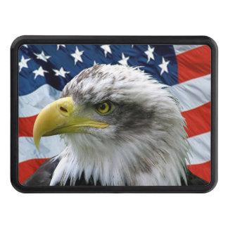 Bald Eagle American Flag Trailer Hitch Cover