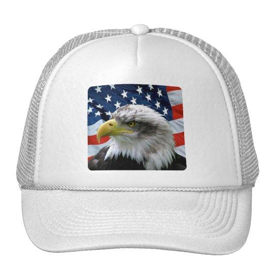 Bald Eagle American Flag Trucker Hat