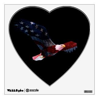 Bald Eagle American Flag Wall Decal