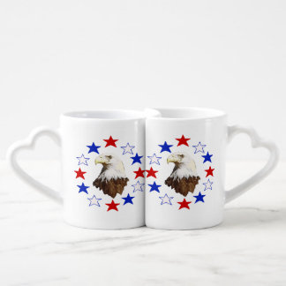 Bald Eagle American Star Coffee Mug Set