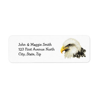 Bald Eagle American USA Bird Name Label