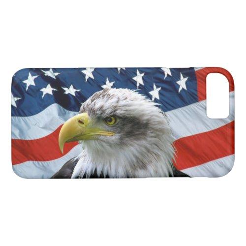 Bald Eagle and American Flag Phone Case