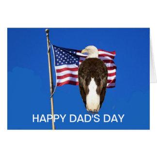 Bald Eagle And American Flag Greeting Card