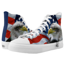 Bald Eagle and American Flag High Tops