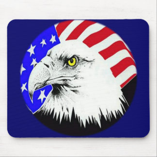 Bald Eagle and American Flag Mouse Pads