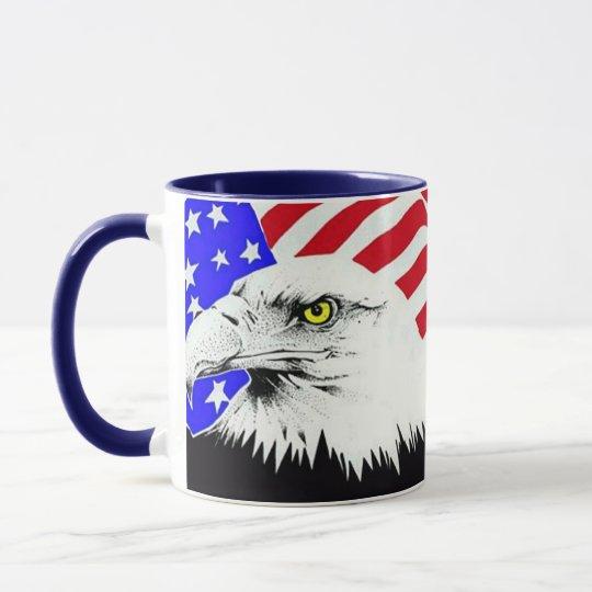 Bald Eagle and American Flag Mug