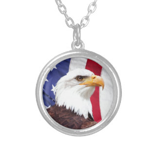 Bald Eagle and American Flag Pendant