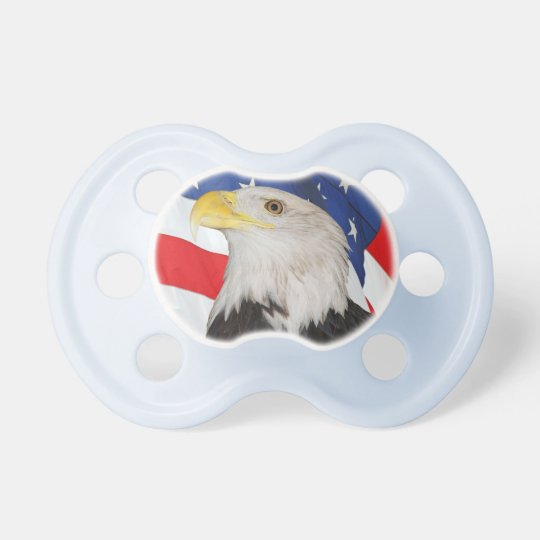 Bald Eagle and American Flag Pacifier