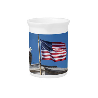 Bald Eagle And American Flag Pitcher