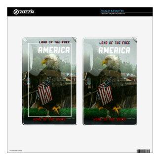 Bald Eagle and American Flag Symbolism Kindle Fire Skins