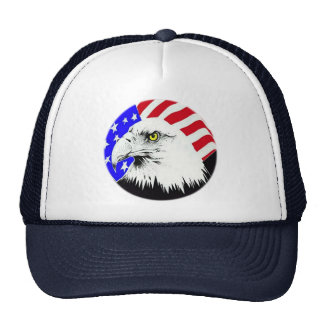 Bald Eagle and American Flag Trucker Hat
