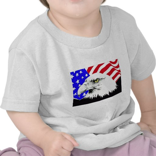 Bald Eagle and American Flag Tshirts