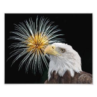 Bald Eagle and Fireworks Photo Print