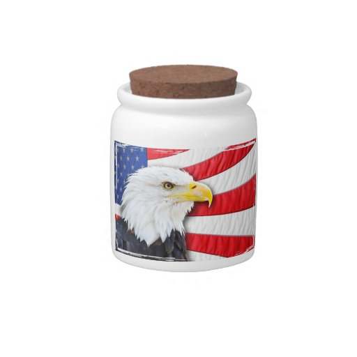 Bald Eagle and Flag Candy Dishes