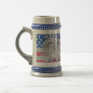 Bald Eagle and the American Flag Beer Stein