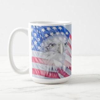 Bald Eagle and the American Flag Coffee Mug