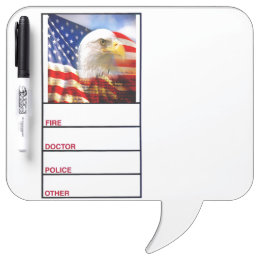 Bald Eagle and The American Flag Dry-Erase Board