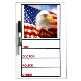 Bald Eagle and The American Flag Dry-Erase Boards