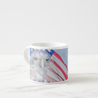 Bald Eagle and the American Flag Espresso Cup