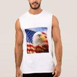 Bald Eagle and The American Flag Sleeveless Shirt