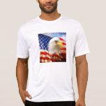 Bald Eagle and The American Flag Sport-Tek Shirt