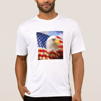Bald Eagle and The American Flag Sport-Tek Shirt