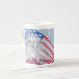 Bald Eagle and the American Flag Tea Cup