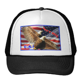 Bald Eagle and US Flag Trucker Hat
