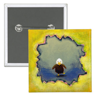 Bald eagle art wobbly baby learning empowerment pin
