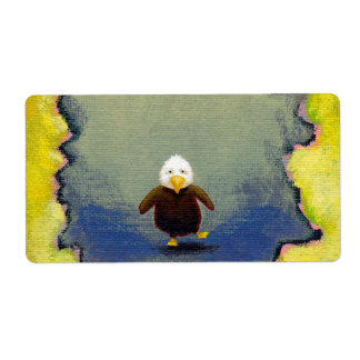 Bald eagle art wobbly baby learning empowerment label