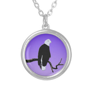 Bald Eagle at Sunset Silver Plated Necklace