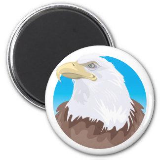 Bald Eagle Badge 2 Inch Round Magnet