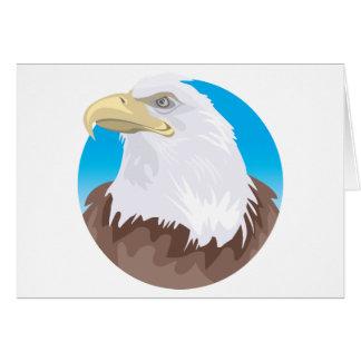 Bald Eagle Badge Card