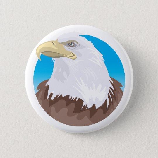 Bald Eagle Badge Pinback Button