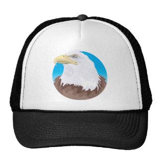 Bald Eagle Badge Trucker Hat